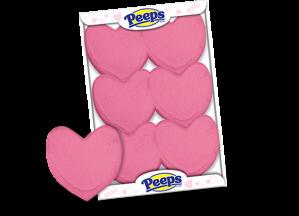 pink hearts-6ct